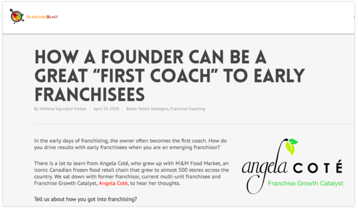 Franchisee Coaching for An Early Franchisor
