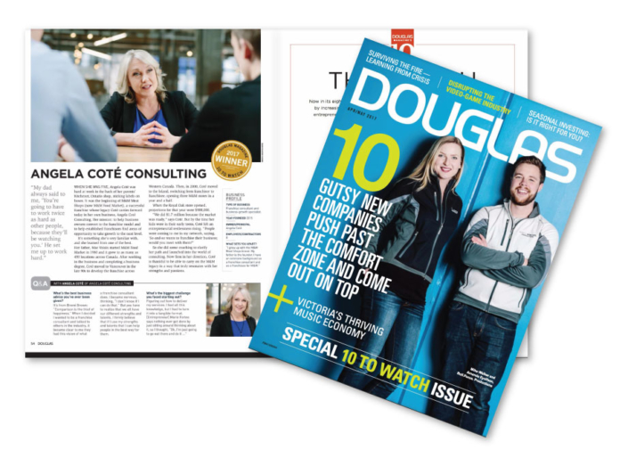 Douglas Magazine 10 to Watch – 2017 Winner